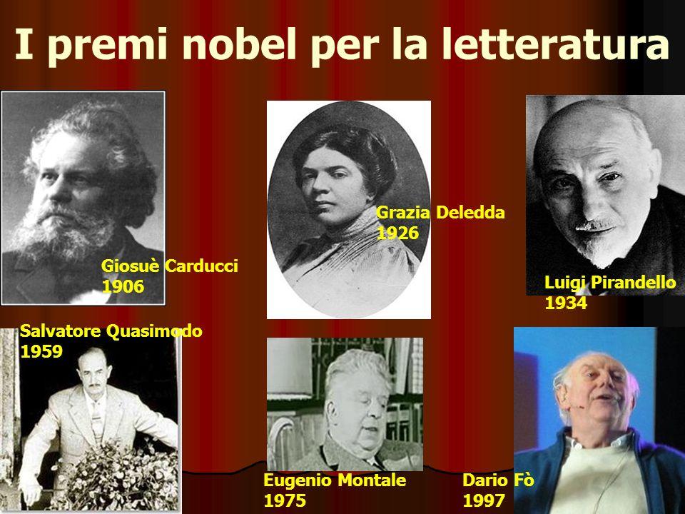 I premi nobel per la letteratura