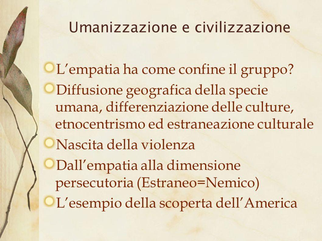Umanizzazione e civilizzazione