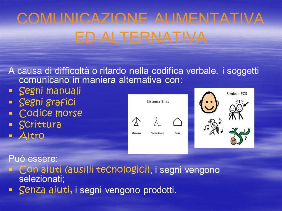 COMUNICAZIONE AUMENTATIVA ED ALTERNATIVA