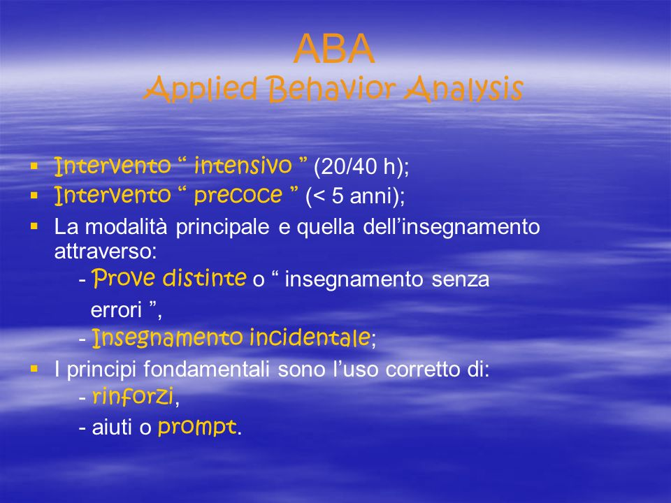 ABA Applied Behavior Analysis