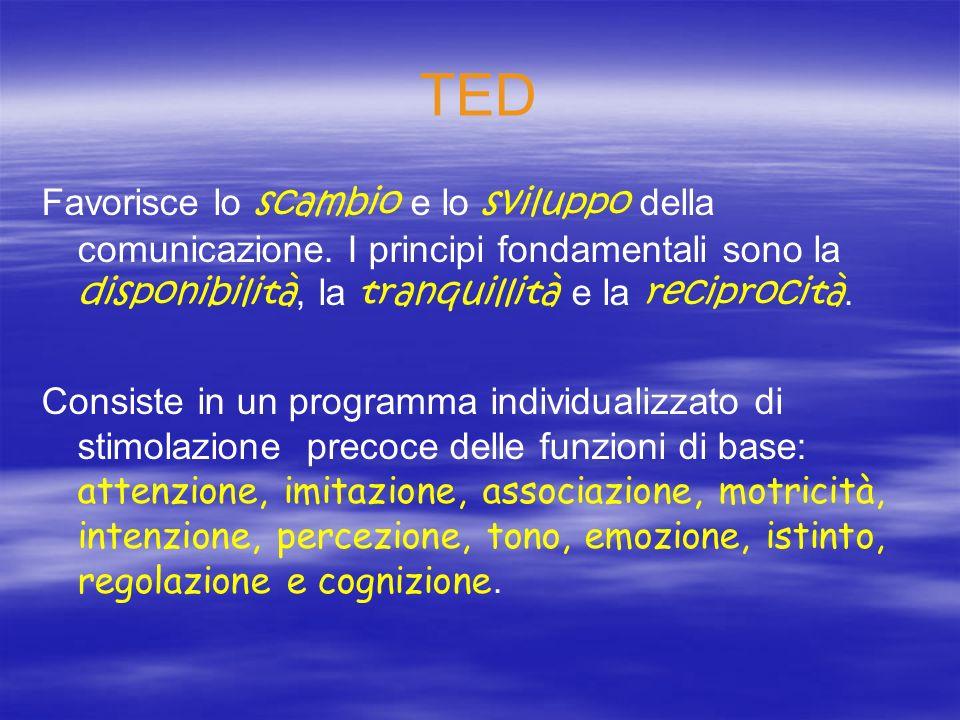 TED Favorisce lo scambio e lo sviluppo della comunicazione. I principi fondamentali sono la disponibilità, la tranquillità e la reciprocità.