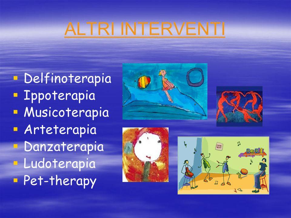 ALTRI INTERVENTI Delfinoterapia Ippoterapia Musicoterapia Arteterapia