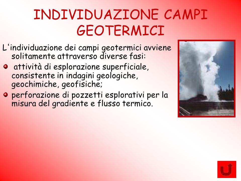 INDIVIDUAZIONE CAMPI GEOTERMICI