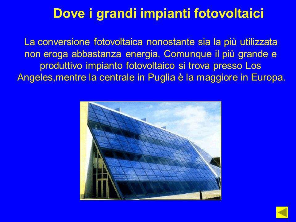 Dove i grandi impianti fotovoltaici