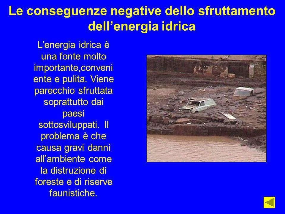 Le conseguenze negative dello sfruttamento dell'energia idrica