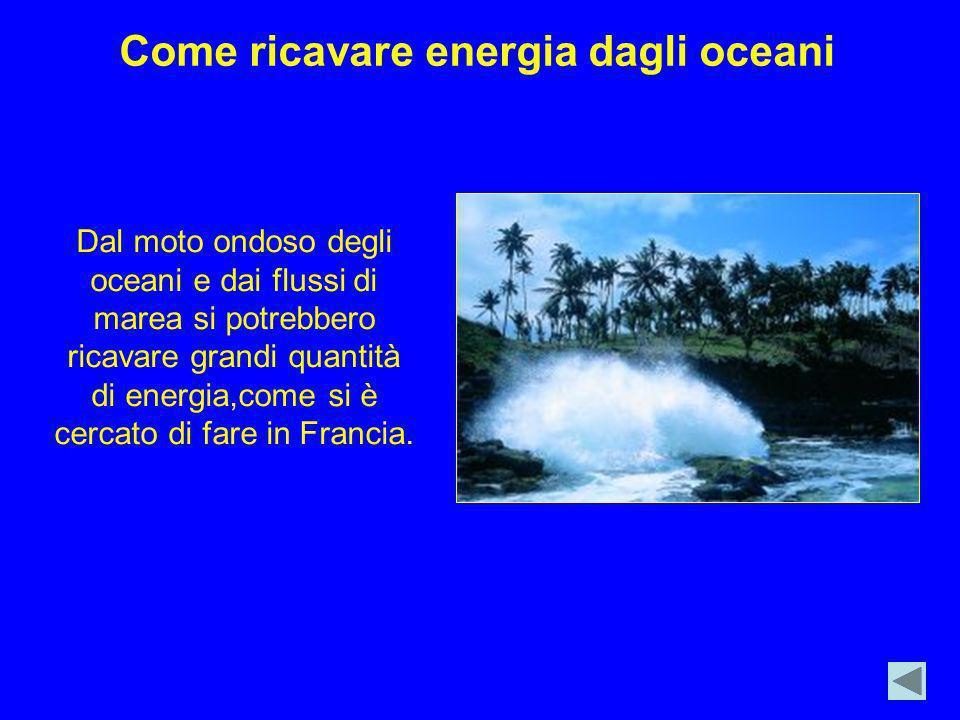 Come ricavare energia dagli oceani
