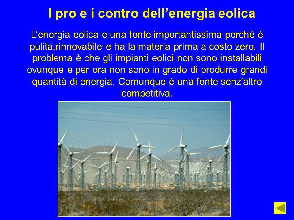 I pro e i contro dell'energia eolica