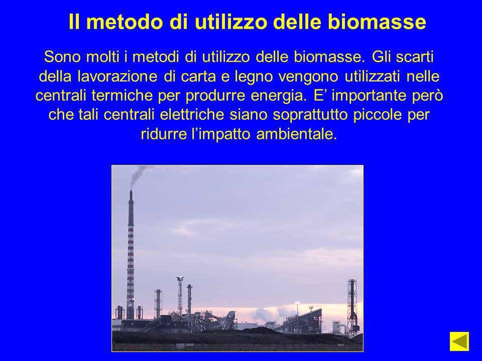 Il metodo di utilizzo delle biomasse