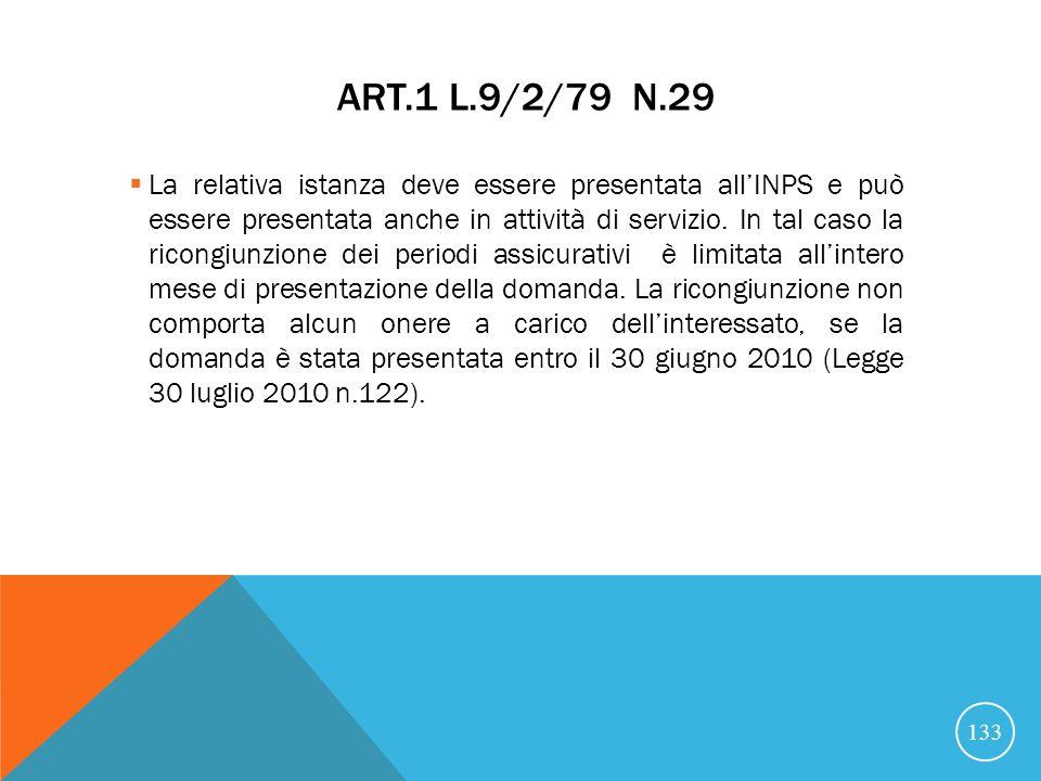 Art.1 L.9/2/79 n.29