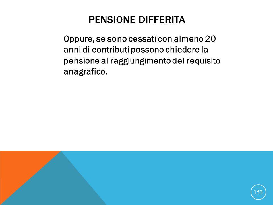 Pensione differita