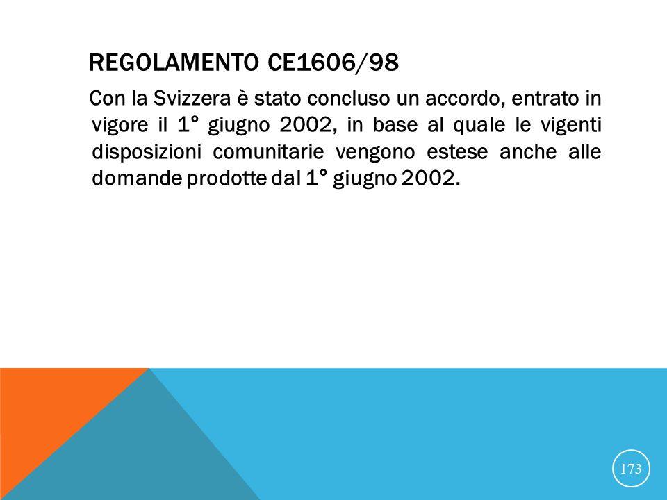 Regolamento CE1606/98