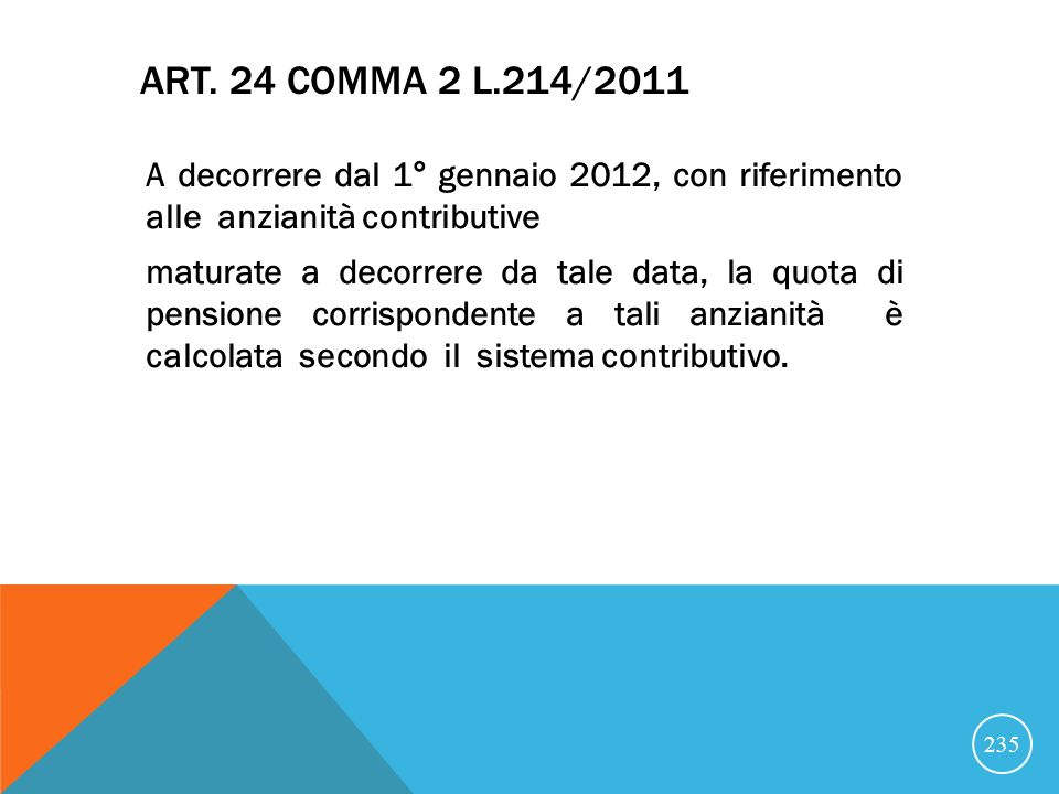 Art. 24 comma 2 l.214/2011