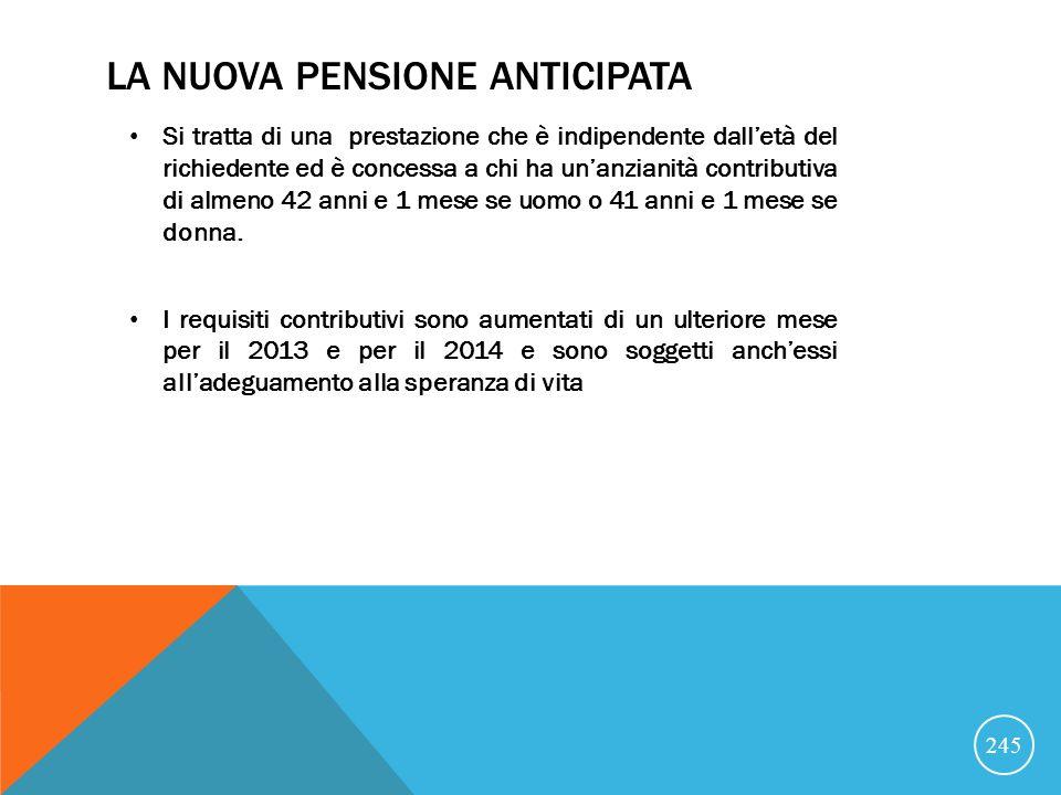 La nuova pensione anticipata