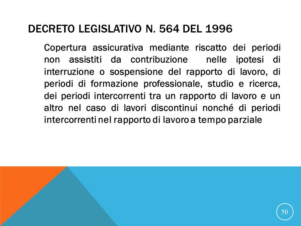 Decreto Legislativo n. 564 del 1996
