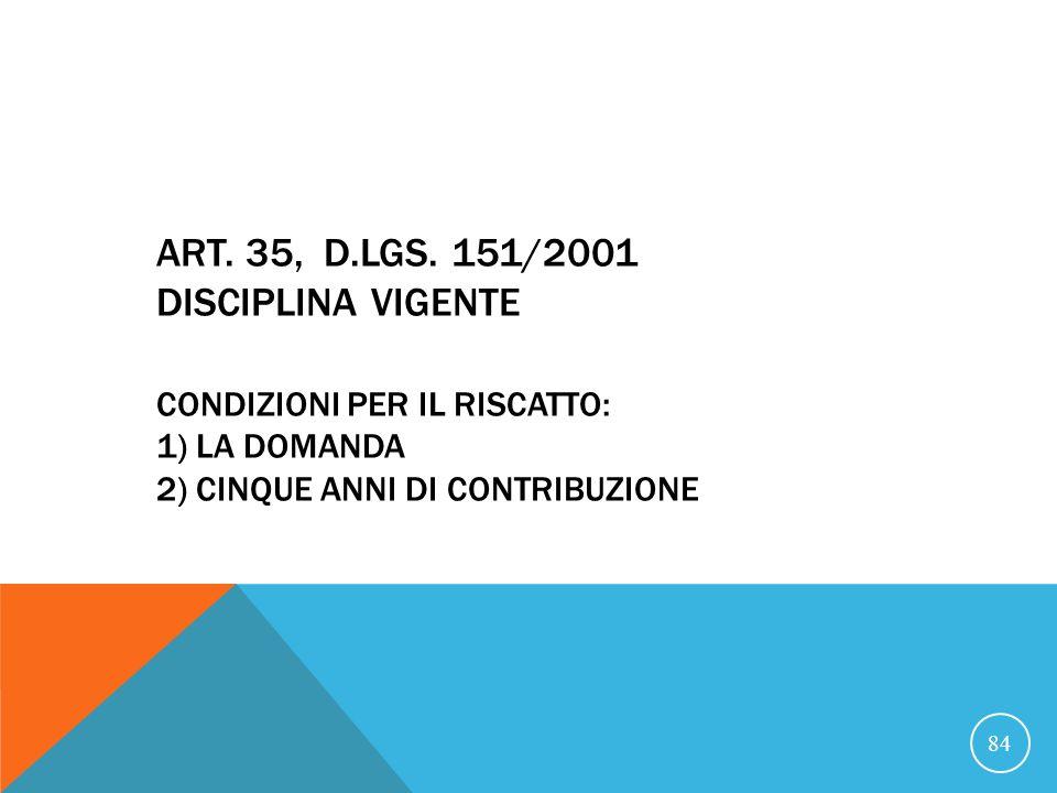 21/07/07 ART. 35, D.LGS.