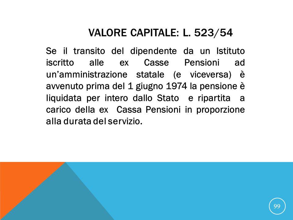 Valore capitale: L. 523/54