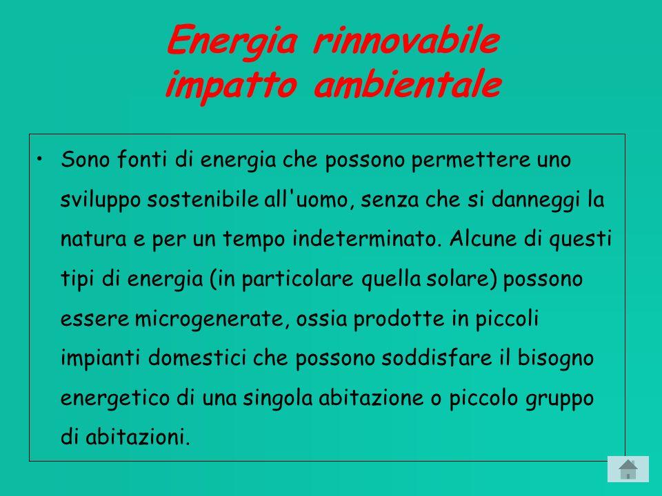 Energia rinnovabile impatto ambientale