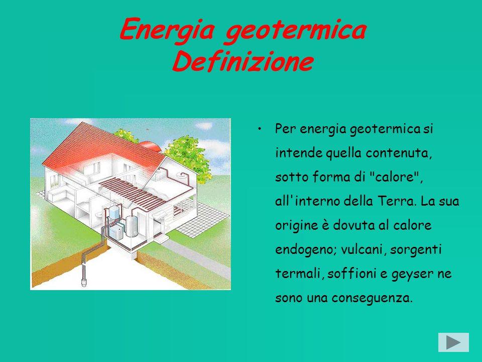 Energia geotermica Definizione