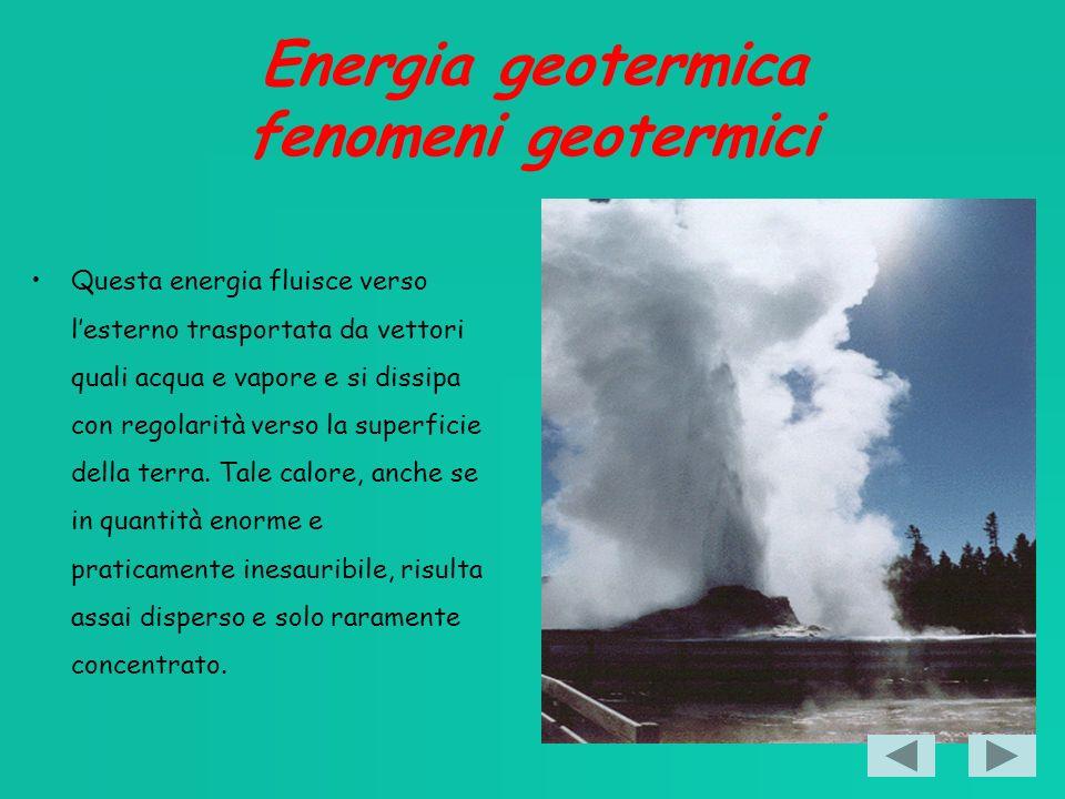 Energia geotermica fenomeni geotermici