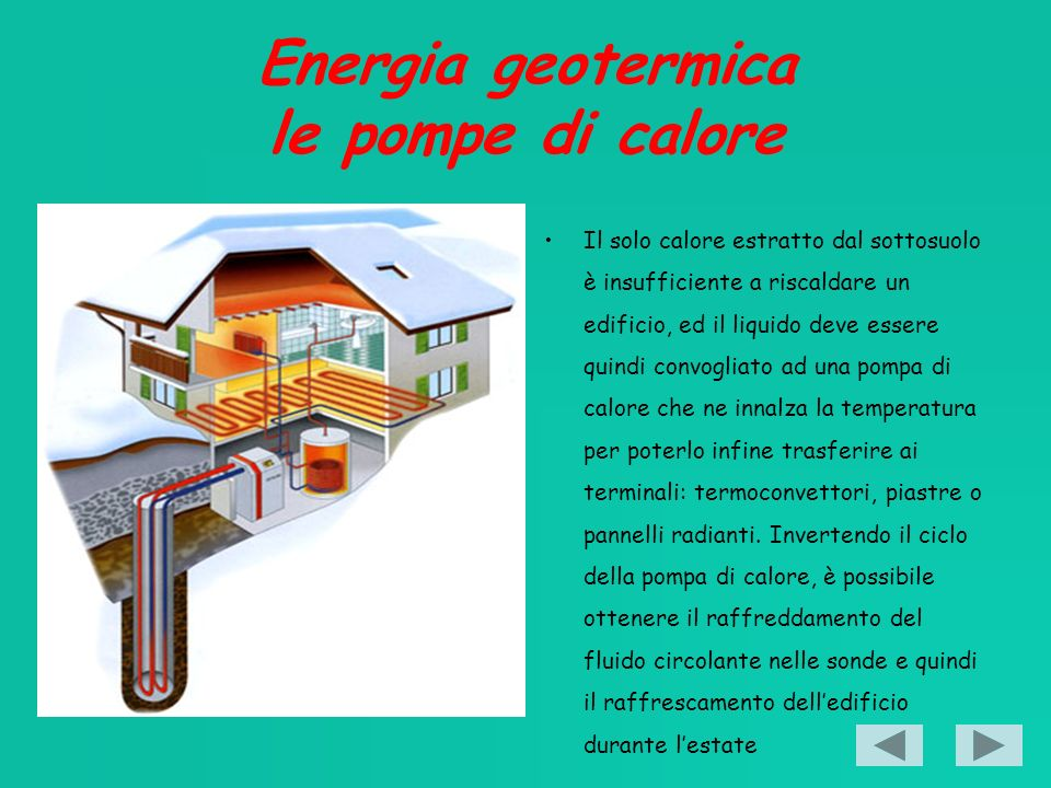 Energia geotermica le pompe di calore