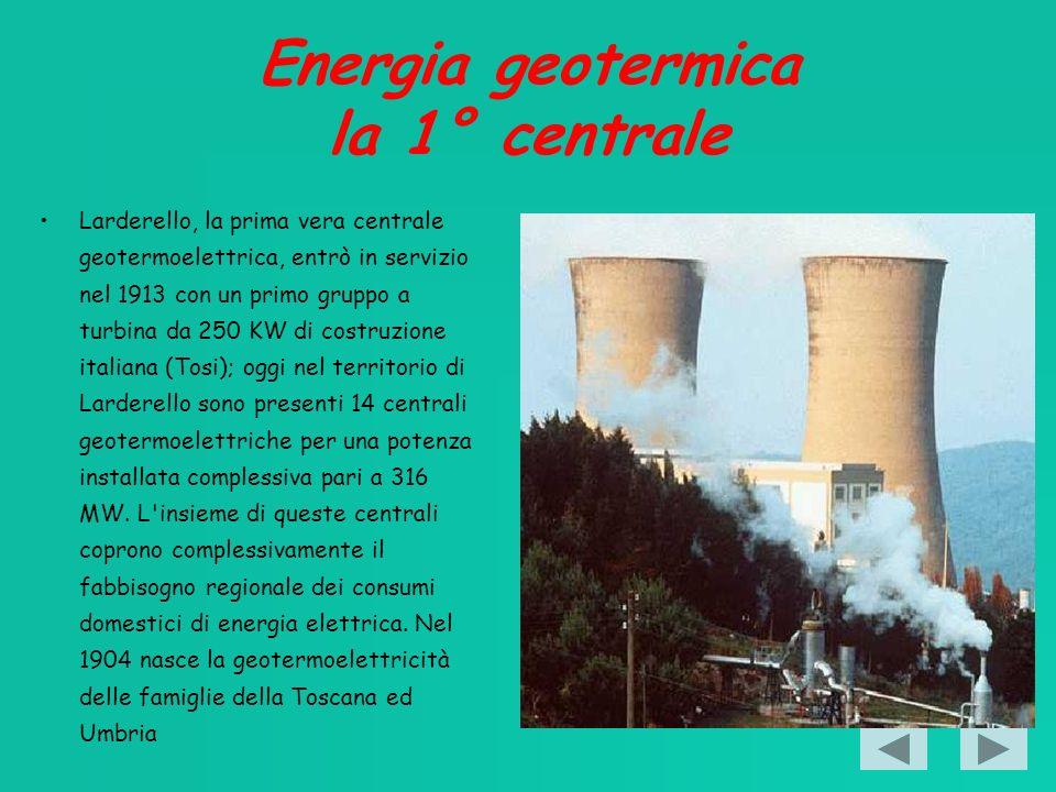 Energia geotermica la 1° centrale
