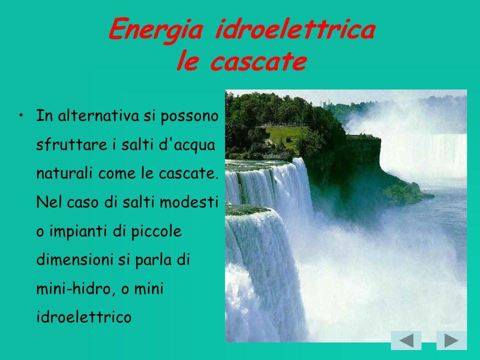 Energia idroelettrica le cascate