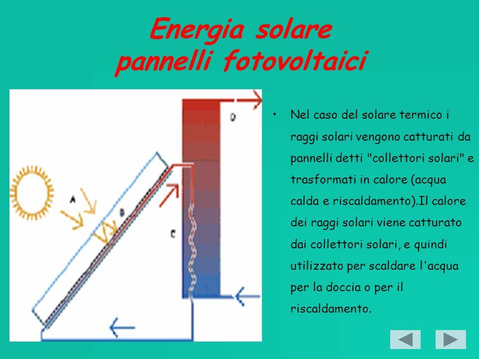 Energia solare pannelli fotovoltaici