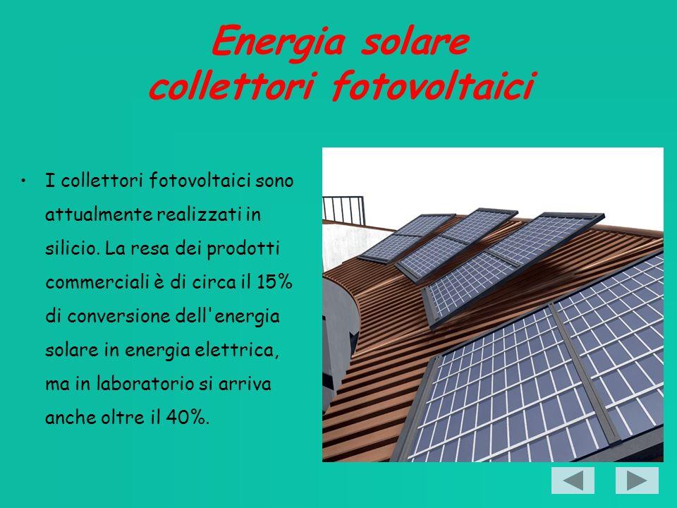 Energia solare collettori fotovoltaici