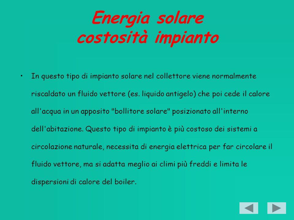 Energia solare costosità impianto