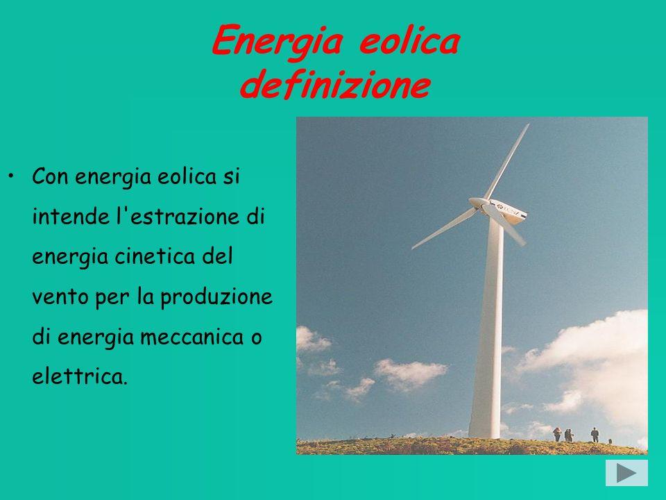 Energia eolica definizione