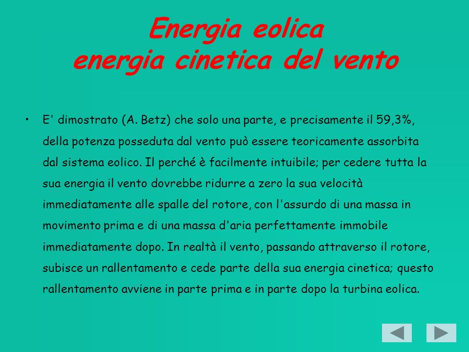 Energia eolica energia cinetica del vento