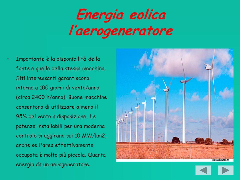 Energia eolica l'aerogeneratore