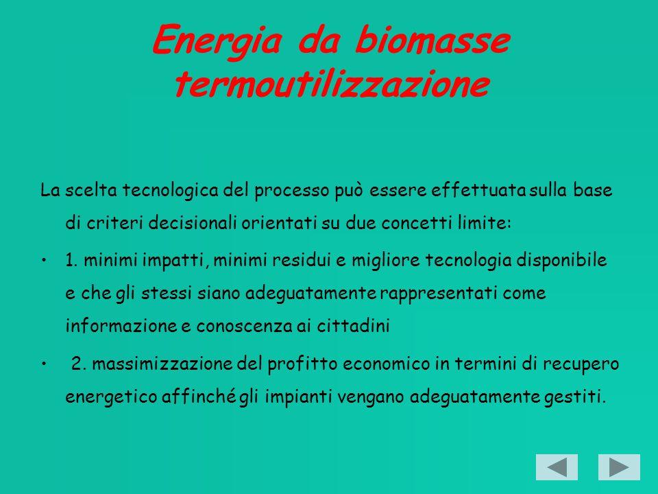 Energia da biomasse termoutilizzazione