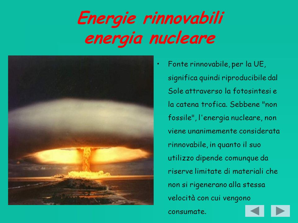 Energie rinnovabili energia nucleare