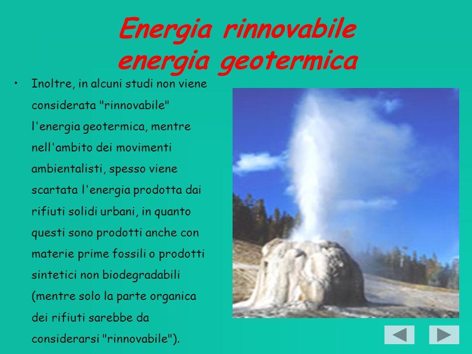 Energia rinnovabile energia geotermica
