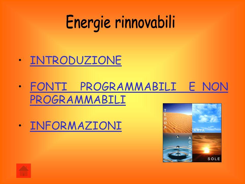 Energie rinnovabili INTRODUZIONE
