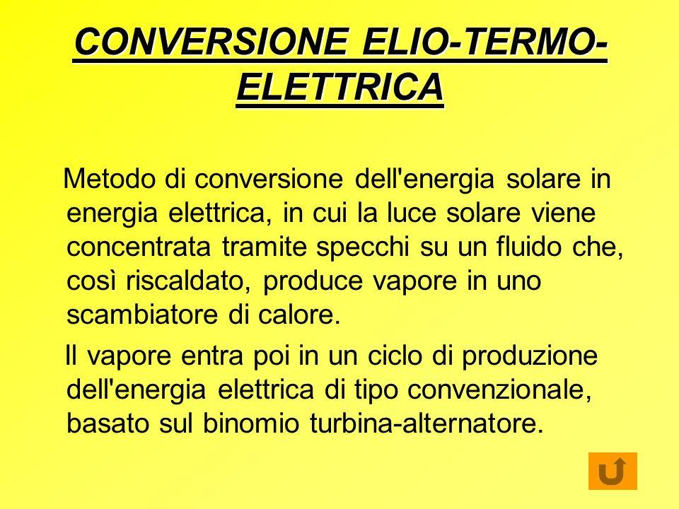 CONVERSIONE ELIO-TERMO-ELETTRICA