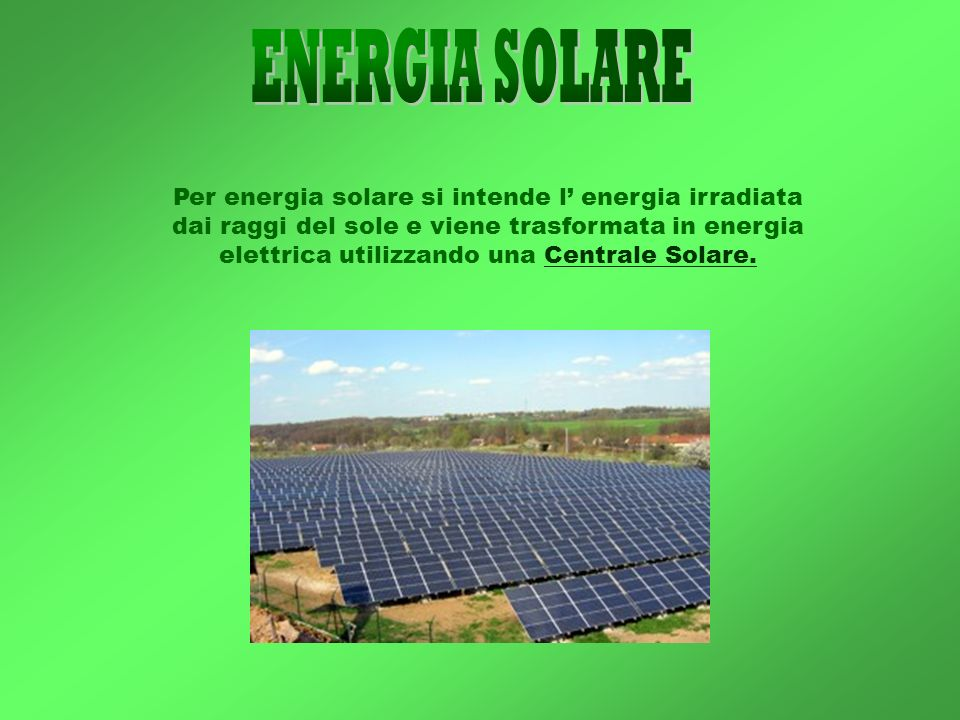 Energie rinnovabili energia solare idroelettrica dell for Filtro per laghetto ad energia solare