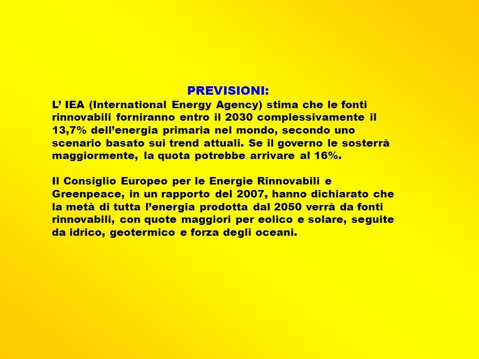 PREVISIONI:
