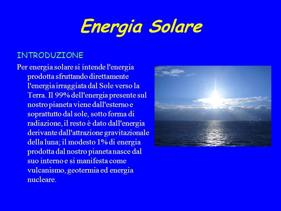 Energia Solare INTRODUZIONE