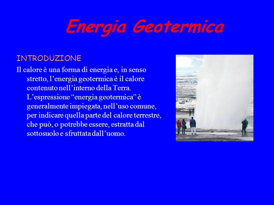 Energia Geotermica INTRODUZIONE