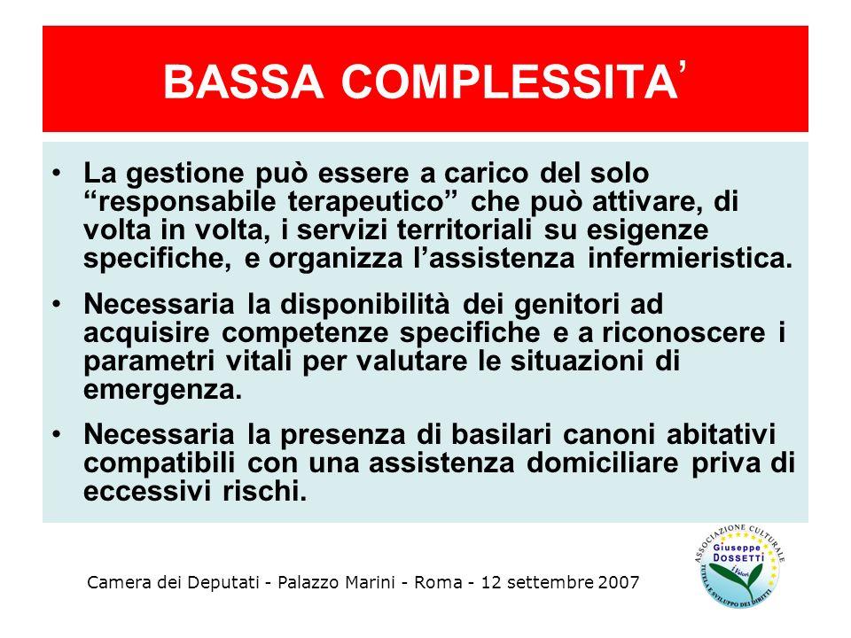 BASSA COMPLESSITA'