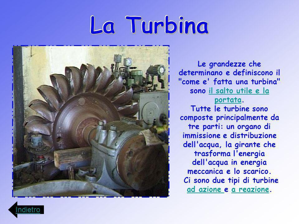 Ci sono due tipi di turbine ad azione e a reazione.