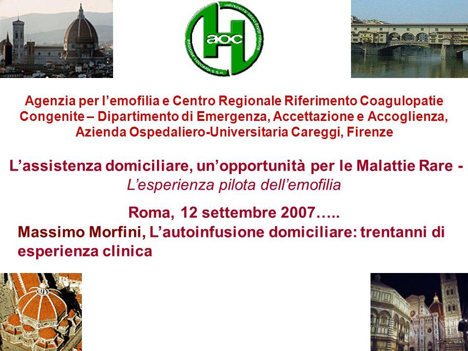 Agenzia per l'emofilia e Centro Regionale Riferimento Coagulopatie Congenite – Dipartimento di Emergenza, Accettazione e Accoglienza, Azienda Ospedaliero-Universitaria Careggi, Firenze