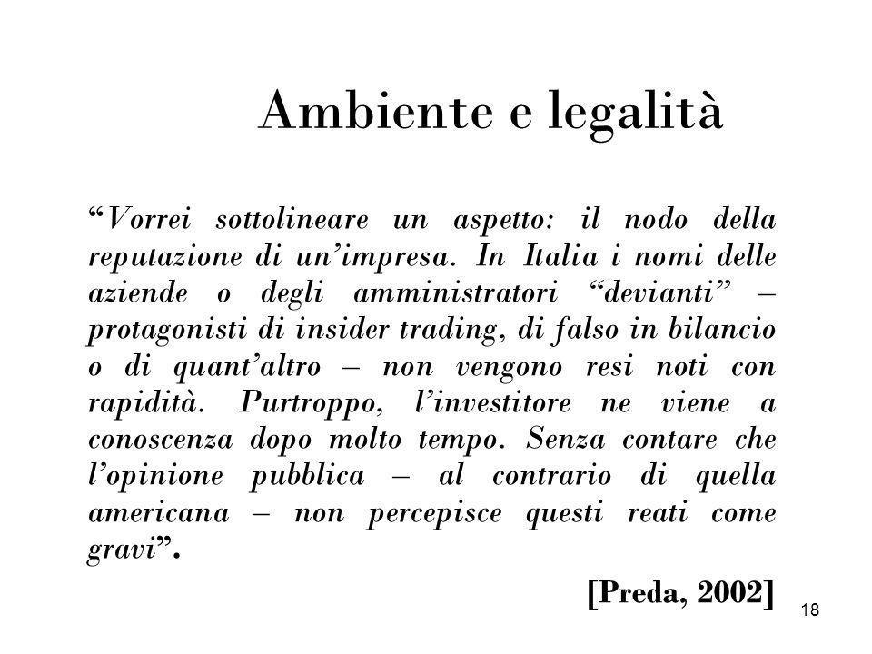 Ambiente e legalità