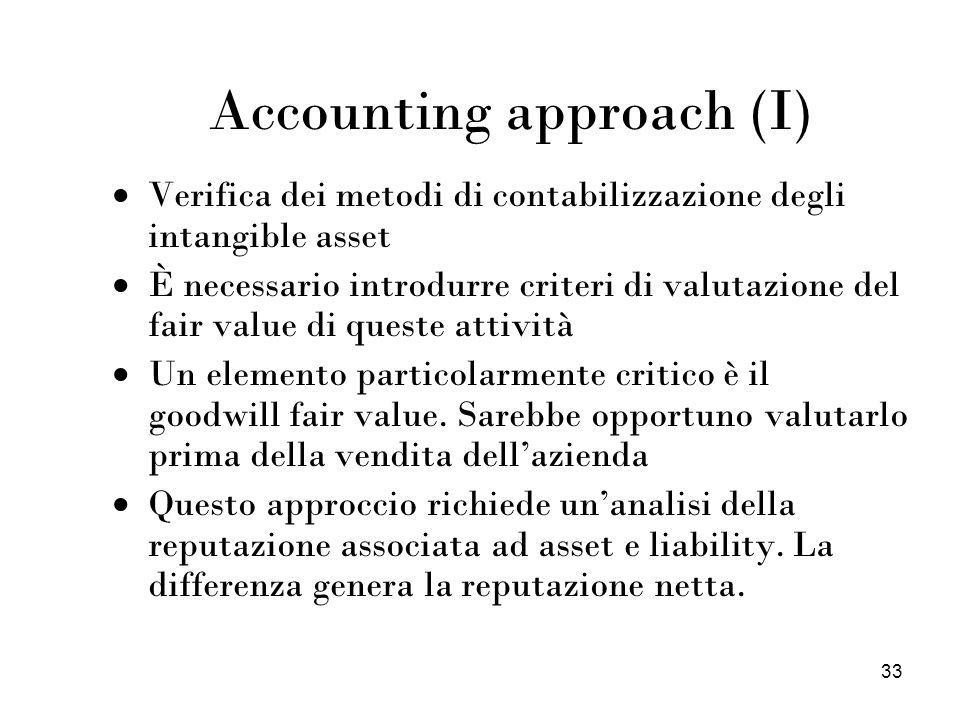 Accounting approach (I)