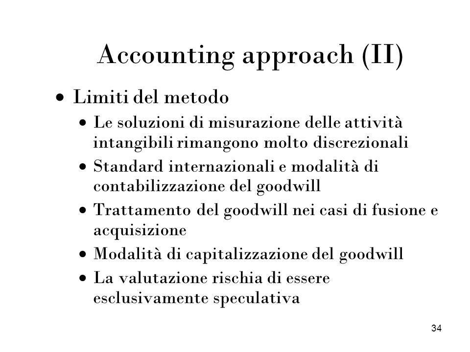 Accounting approach (II)