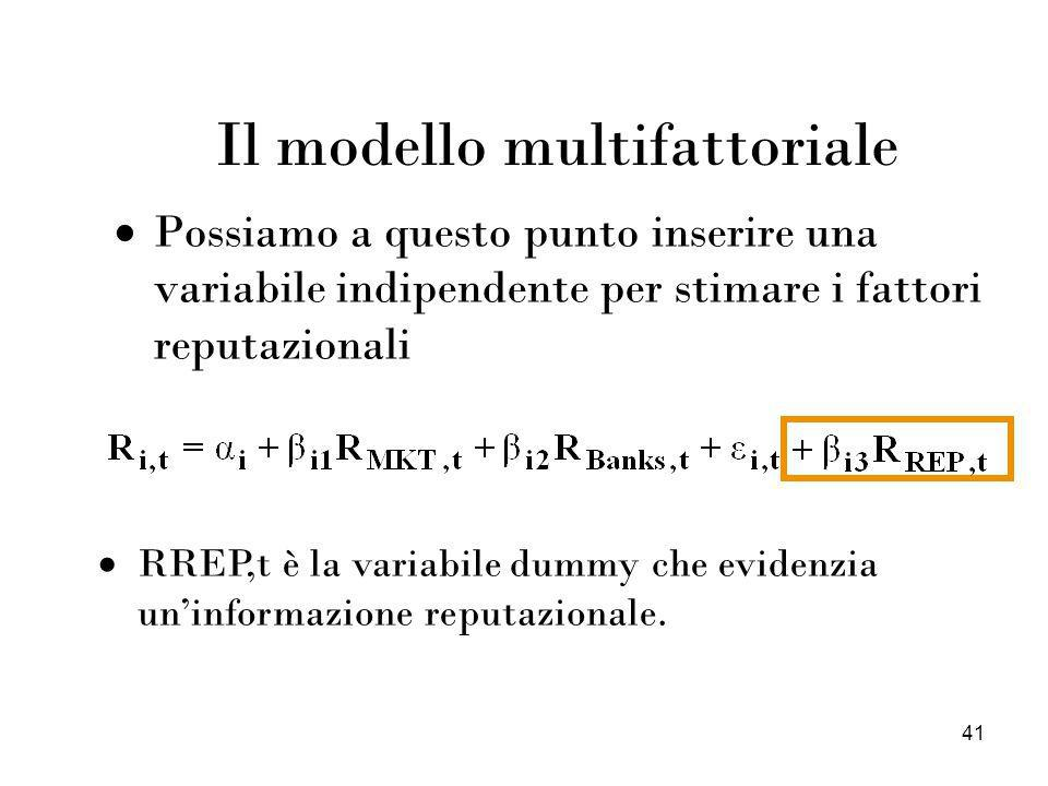 Il modello multifattoriale
