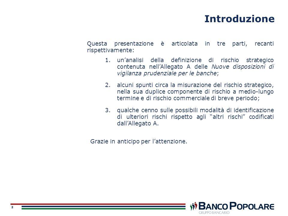 Introduzione Questa presentazione è articolata in tre parti, recanti rispettivamente: