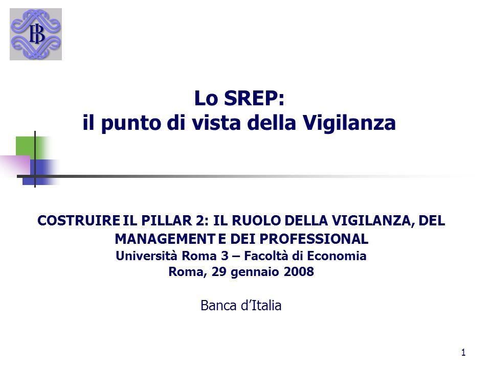 Lo SREP: il punto di vista della Vigilanza